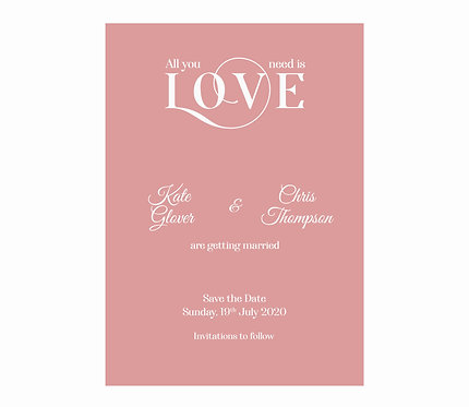 SAVE THE DATE - All You Need is Love (From £1.10)