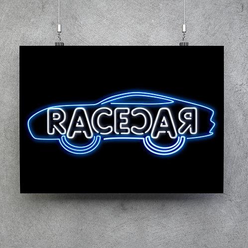 RACECAR 59 x 42cm (A2 size)