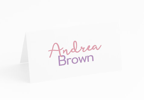NAME CARDS - Prism (£1 each)