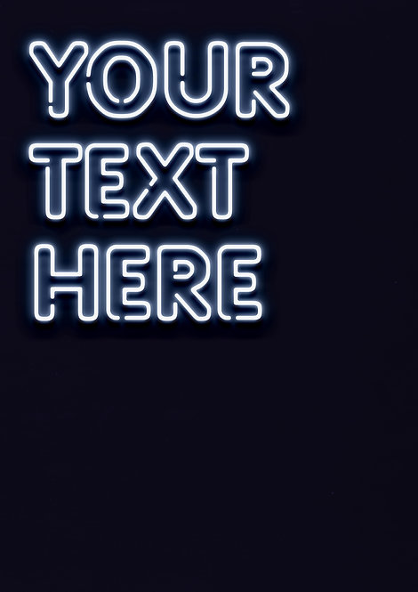 Neon White - Rounded Font - DIGITAL FILE