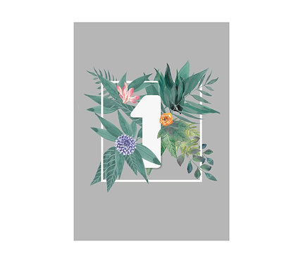 TABLE NUMBERS - Tropical (£2.99 each)