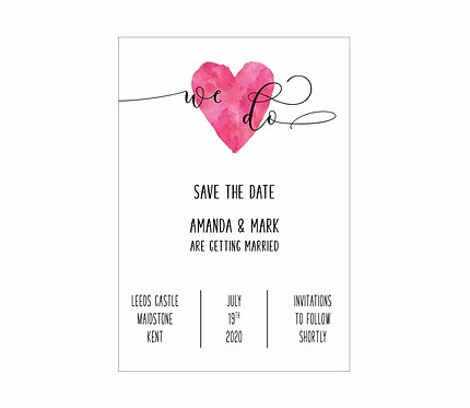 SAVE THE DATE - We Do (From £1.10)