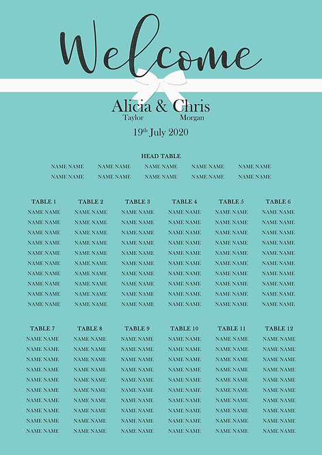 TABLE PLAN - Forever (From £80)