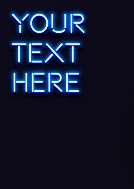 Neon Blue - Matchstick Font - DIGITAL FILE