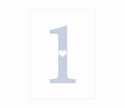 TABLE NUMBERS - And it's Love (£2.99 each)