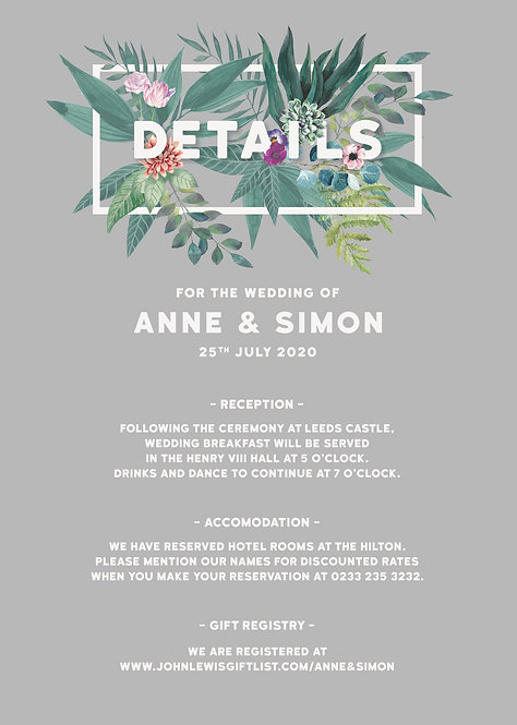 DETAILS - Tropical (From £1.95)