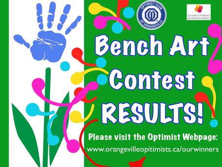 Bench Art Contest Results