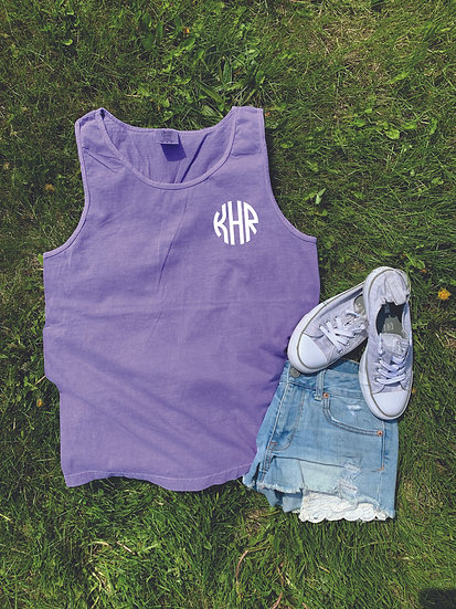 Comfort Colors Tank w/ Monogram