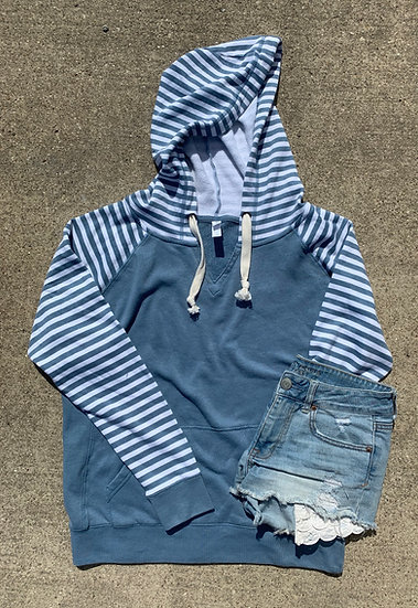 Washed Striped Pullover