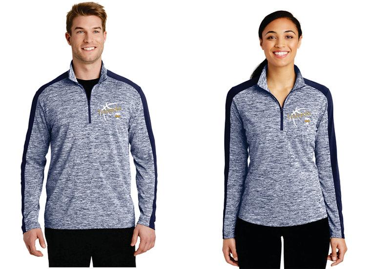 Men's & Women's Sport-Tek PosiCharge Electric Heather Colorbock 1/4 Zip Pullover