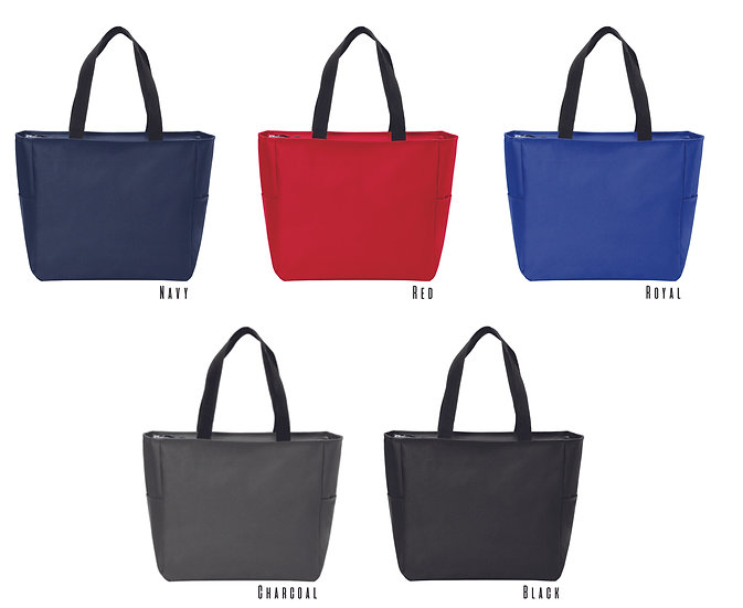Zipper Tote Basic Colors