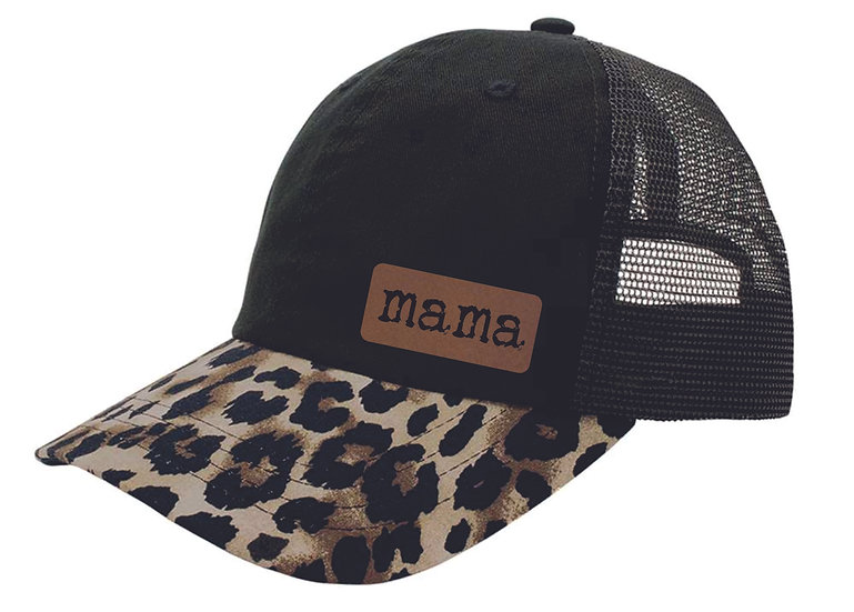 Mama Leather Patch Hat