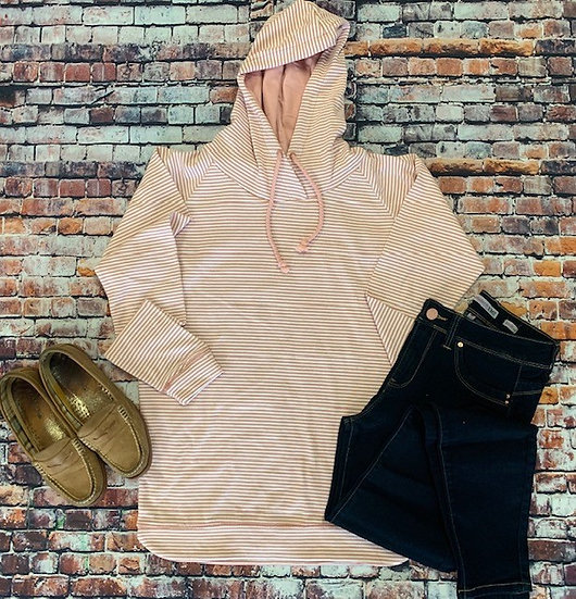 Fine Striped Hoodie *5 Colors