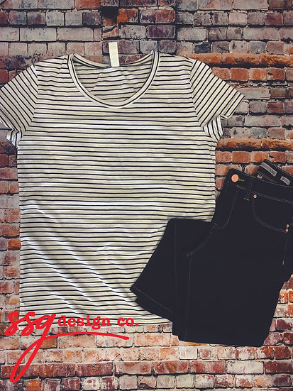 Ladies Striped Tee