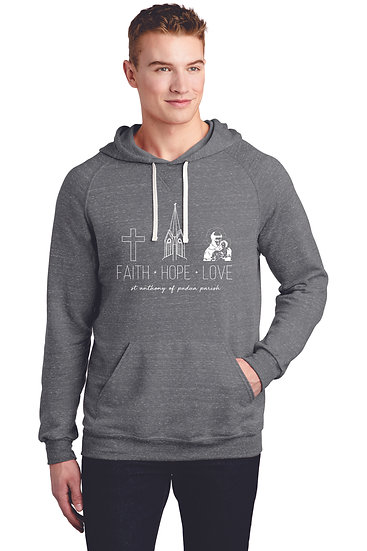 Adult Heather Raglan Hoodie 2 Color Options
