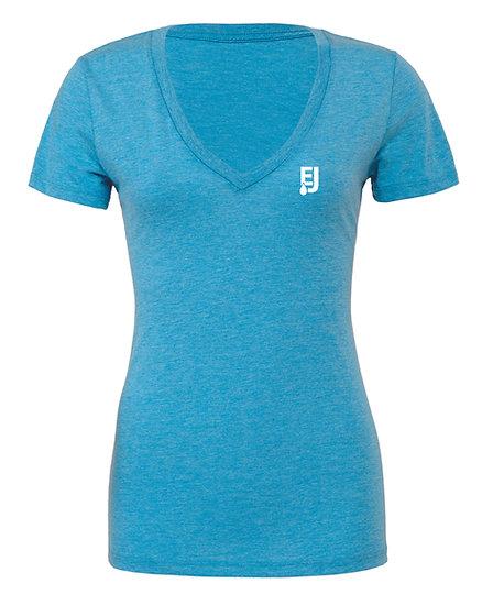 BELLA+CANVAS® Women's Triblend Short Sleeve Deep V-Neck Tee
