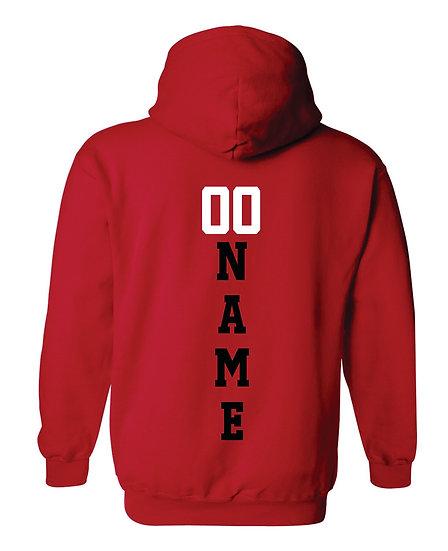 Gildan Hoodie Name & Number
