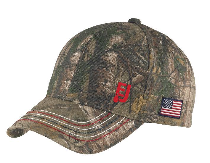 American Contrast Stitch Camouflage Cap