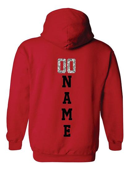 Gildan Bling Hoodie Name & Number