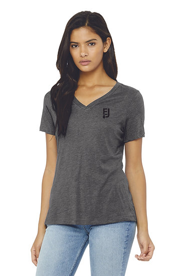 BELLA+CANVAS ® Women's Relaxed Jersey Short Sleeve V-Neck Tee