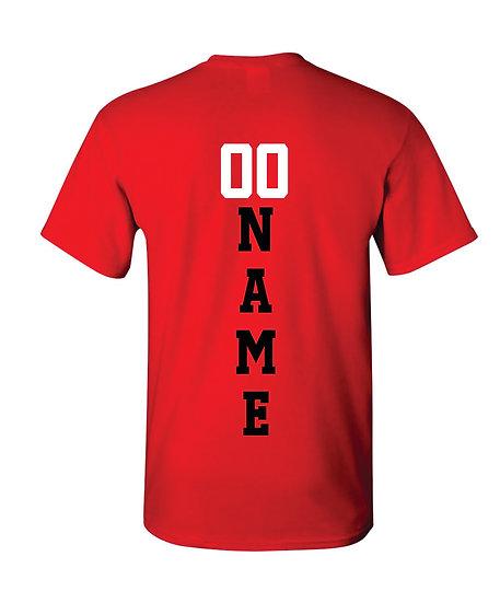 Gildan T-Shirt Name & Number