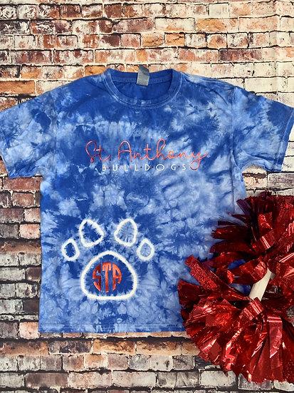 STA Tie Dye Paw Print