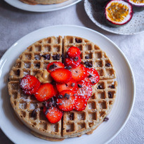 Coconut kefir waffles