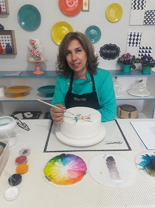 Curso Online de Pintura em Bolo