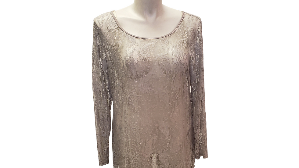 2x Cary Allen Gray Lace Top