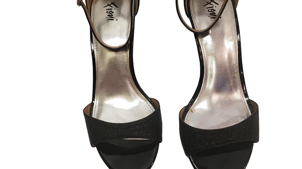 Fioni Black Glitter Sandals