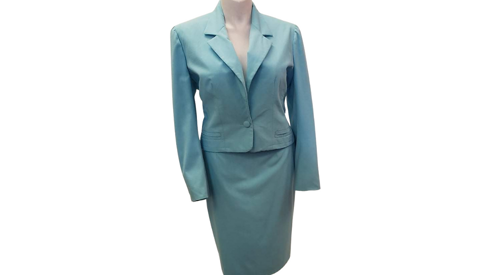 PRE-LOVED  Custom Made 2Piece Light  Blue Suit