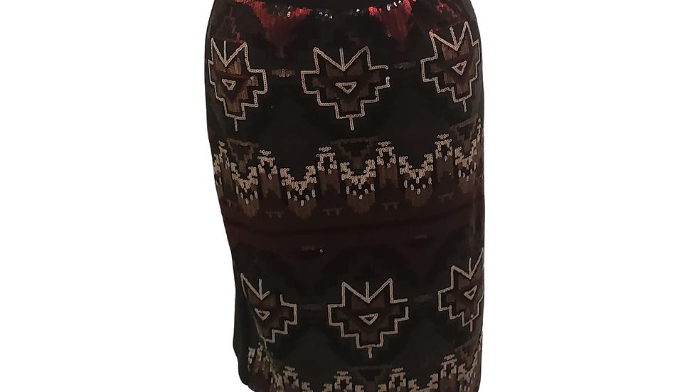 PRE-LOVED XL  Cato Sequin Skirt