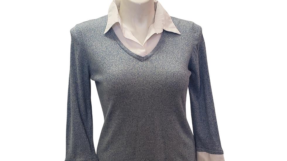 PRE-LOVED Kim Rogers Collar Sweater