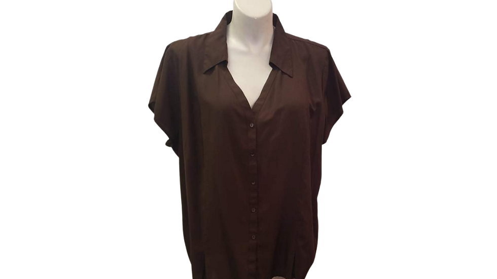 PRE-LOVED Cato 26/28 Brown Blouse