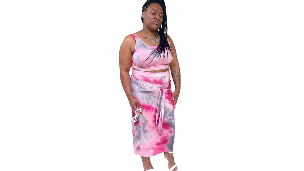 2 Piece Tye Dye Skirt Set