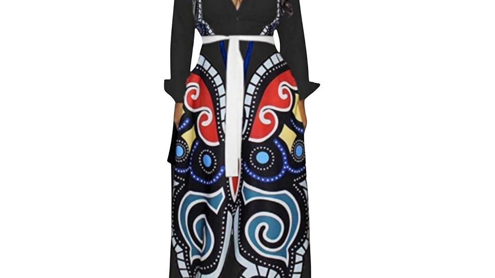 Black Butterfly Maxi Dress