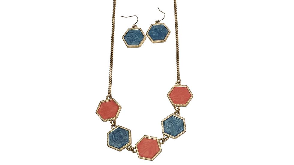 Orange & Turquoise Necklace Only