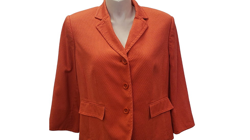 PRE-LOVED  16 W Collections by LeSuit Orange Blazer