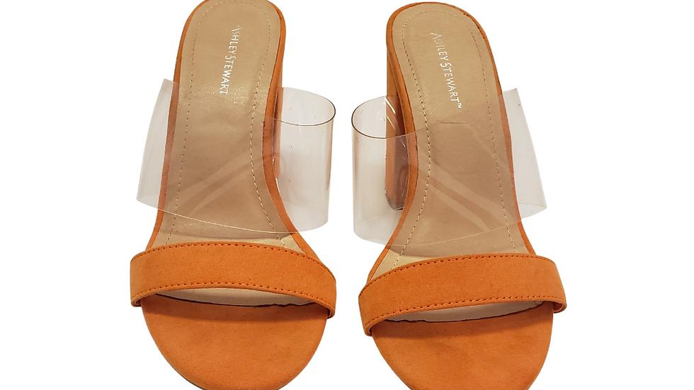 10 WAshley Stewart Orange Heel