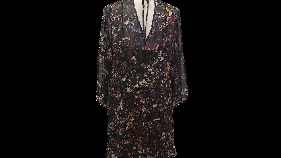 2x Bongo Plus Floral Sheer Dress