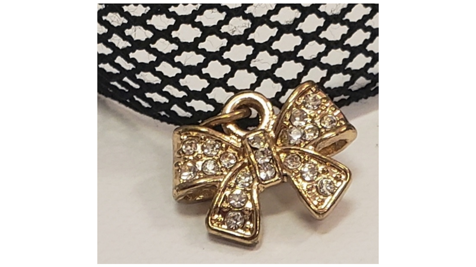 Black Mesh Choker Necklace