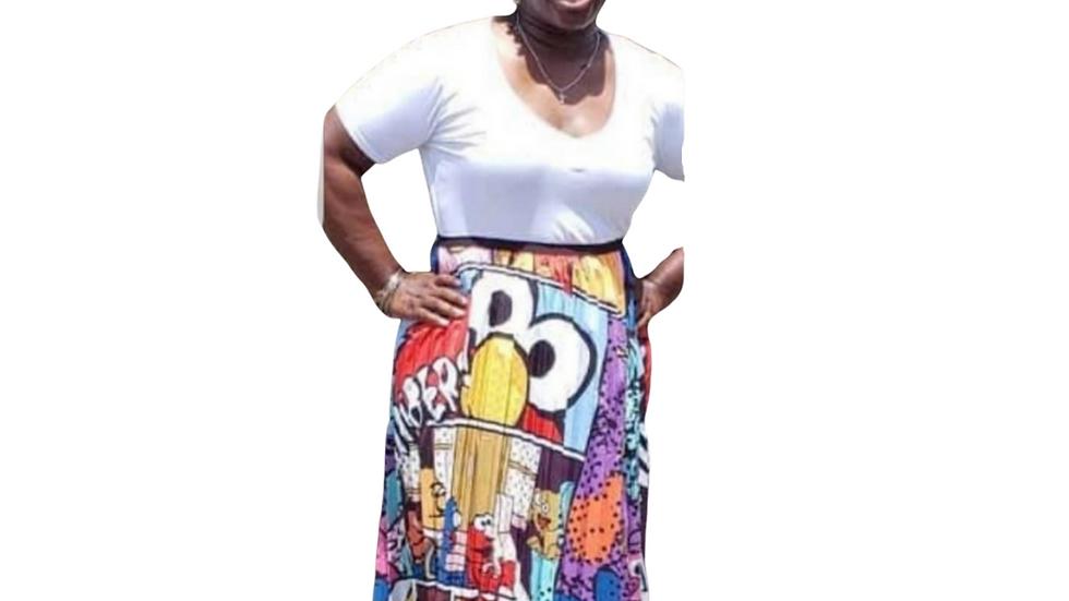 Seame Street Cartoon Skirt