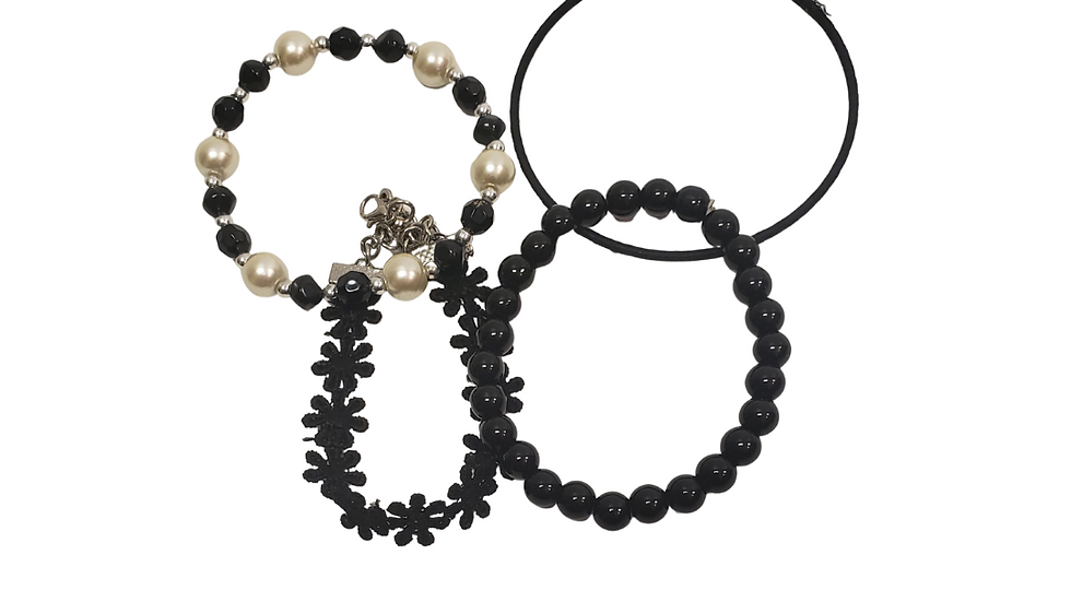 Set of 4 Black Variety Bracelets