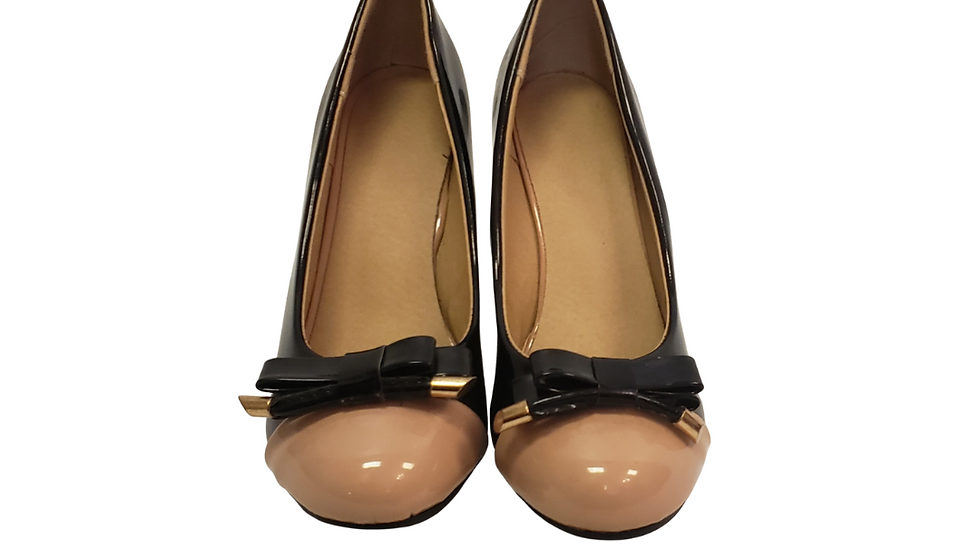 Patent Bow Top Wedges