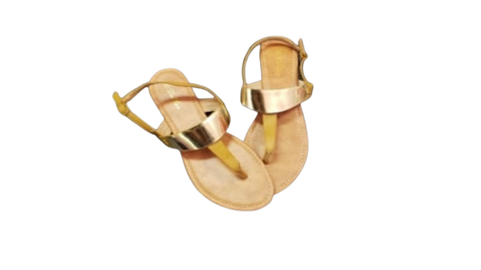 Luo  Luo Gold Bar Thong Sandals