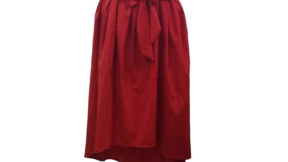 PRE- LOVED  2x/3x Red Hi-Lo Skirt