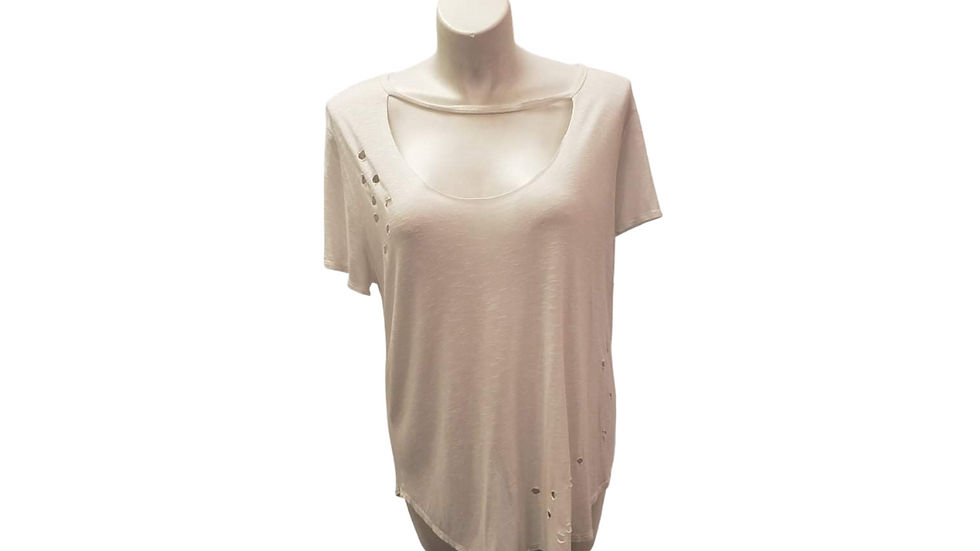 2x Charlotte Russe Destructed Tee