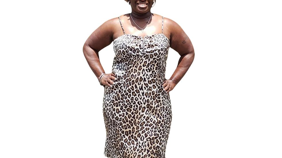 Xscape Cheetah Print Dress