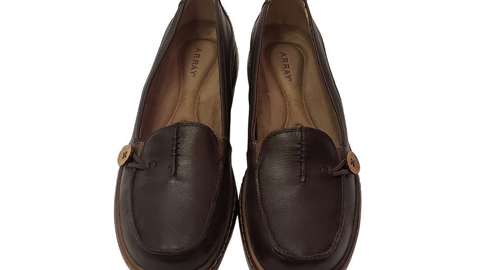 PRE-LOVED Array Brown Leather Loafers