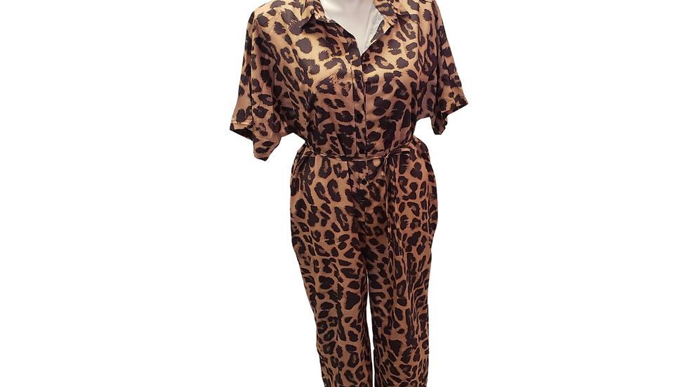 Cheetah Print Jumpsuit